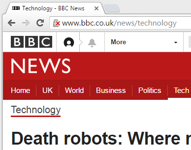 Insecure BBC News