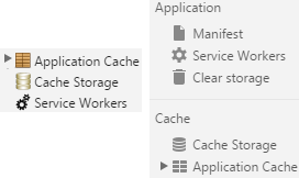 Chrome cache dev tools
