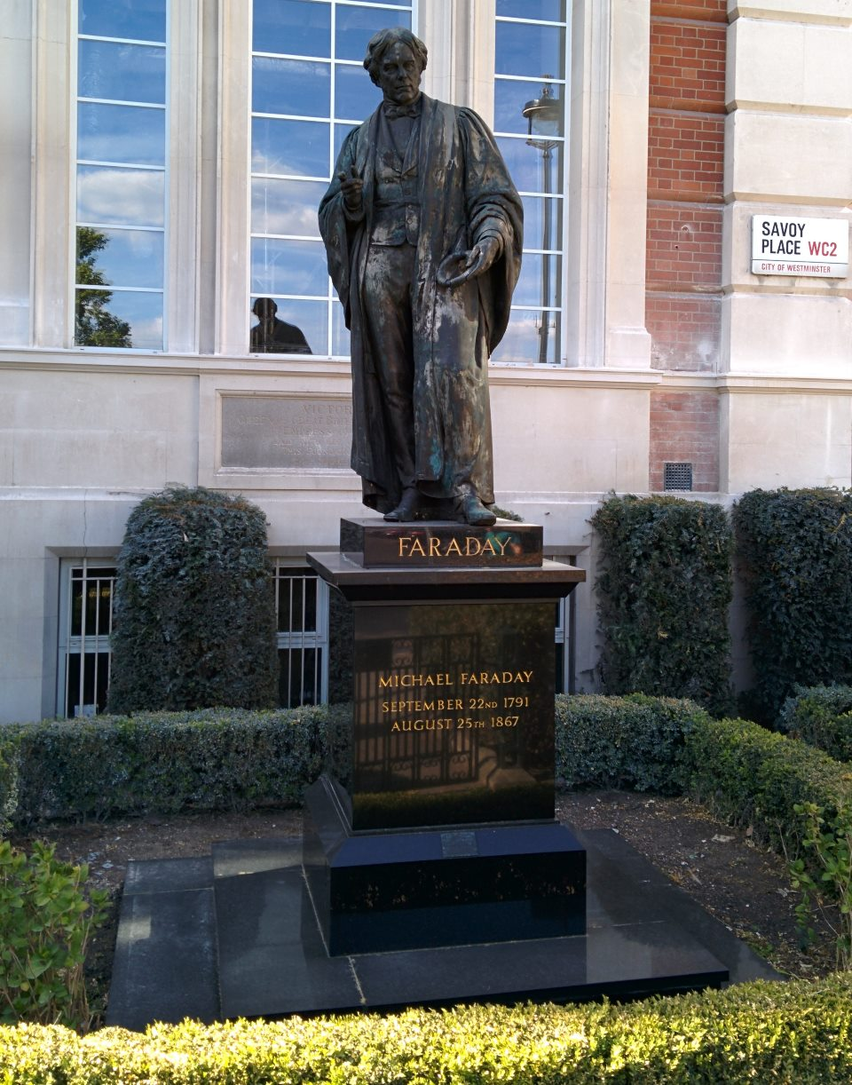 Faraday statue old