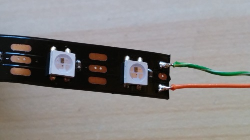Soldered LED Strip