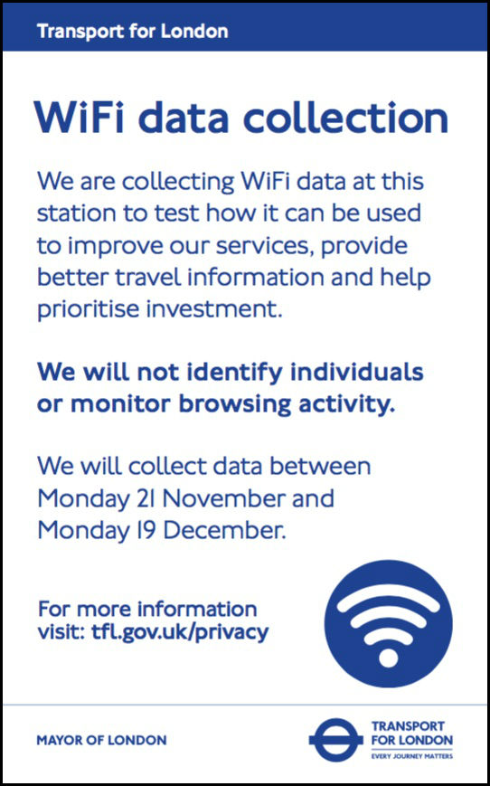 TfL WiFi data collection