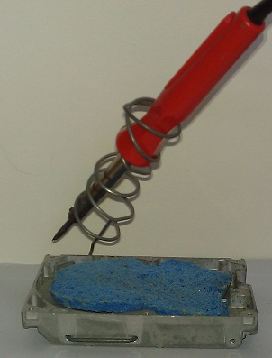 Soldering Iron Holder - With Iron And Sponge
