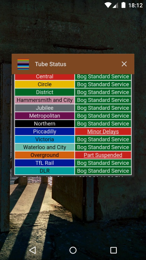 tube status task switcher